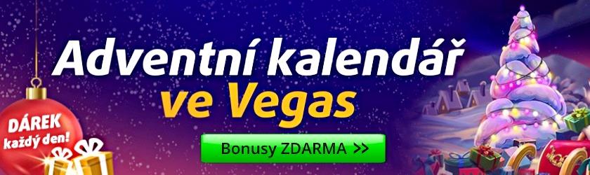 Adventní kalendář ve Vegas BONUSY ZDARMA
