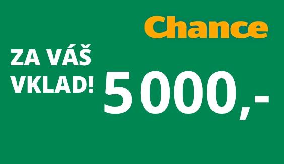 Chance Vegas vkladový bonus 5000 Kč