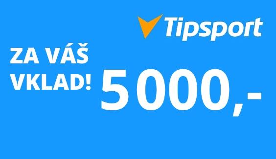 Tipsport Vkladový bonus 5000 Kč