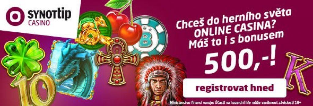 SynotTip Casino 500 Kč ZDARMA
