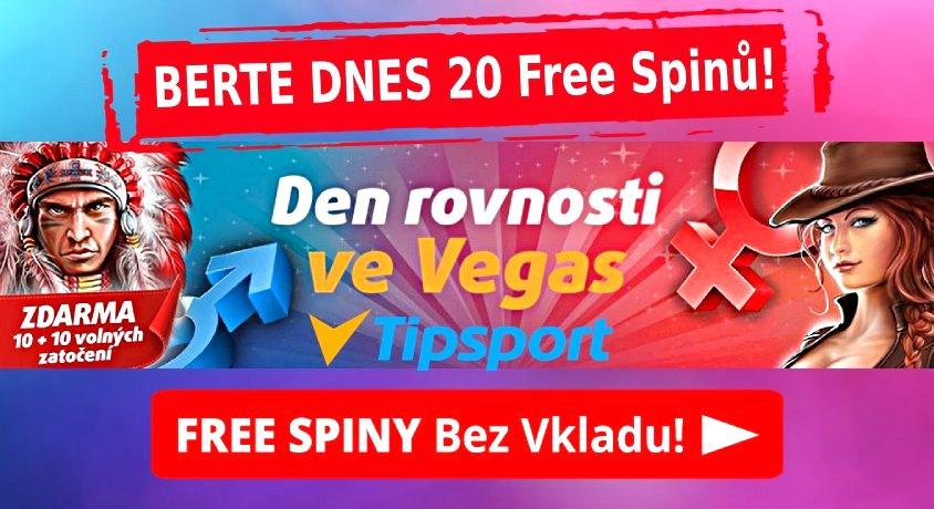 Den rovnosti pohlavi Tipsport Vegas casino