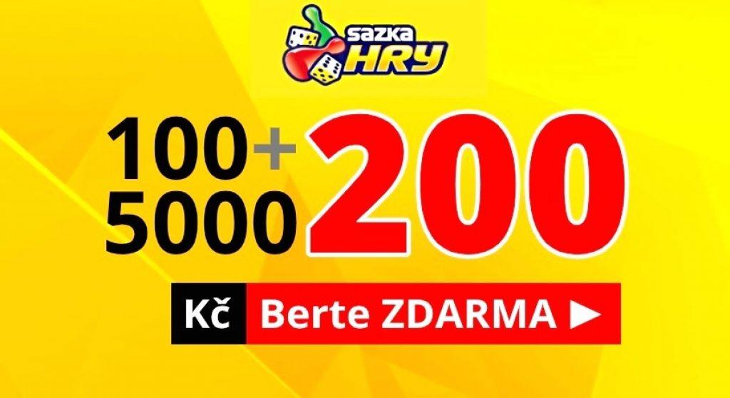 Sazka Hry Bonus Zdarma 200 Kc