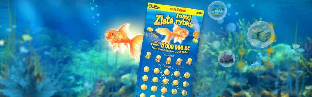 Sazka losy zlatá rybka