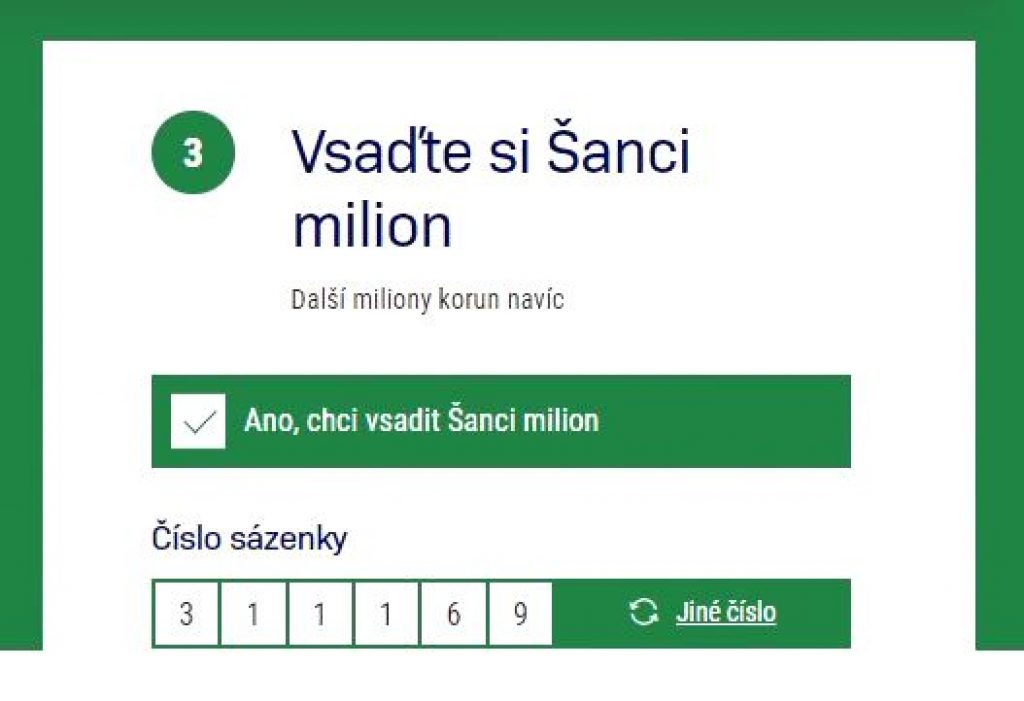 Šance sazka MILION