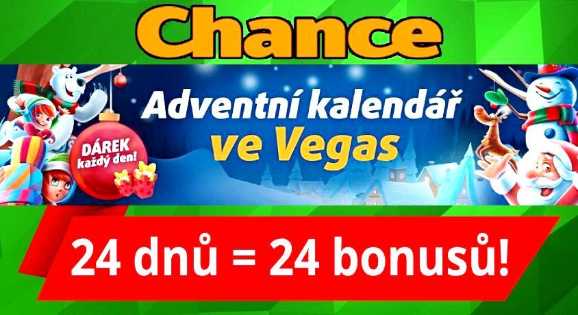 Adventní kalendář Chance Casino bonus