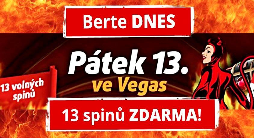Pátek 13 casino bonus Tipsport Vegas