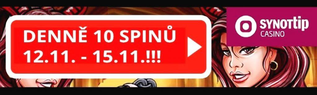 Synottip free spiny zadarmo