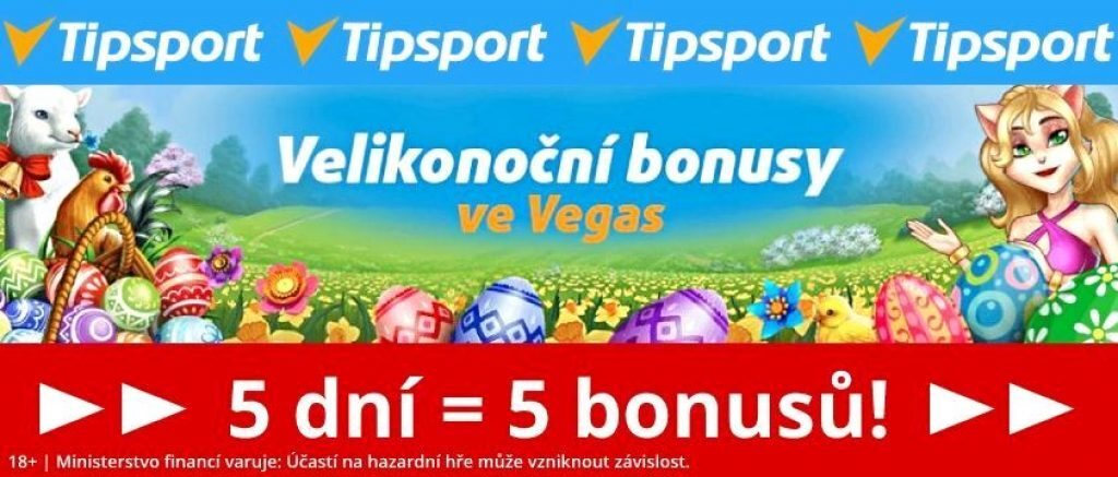 velikonoční casino bonus Tipsport free spiny