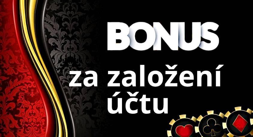 bonus za založení účtu