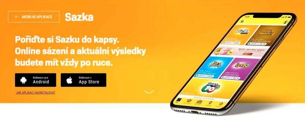 Sazka aplikace instalace aktualizace na mobil
