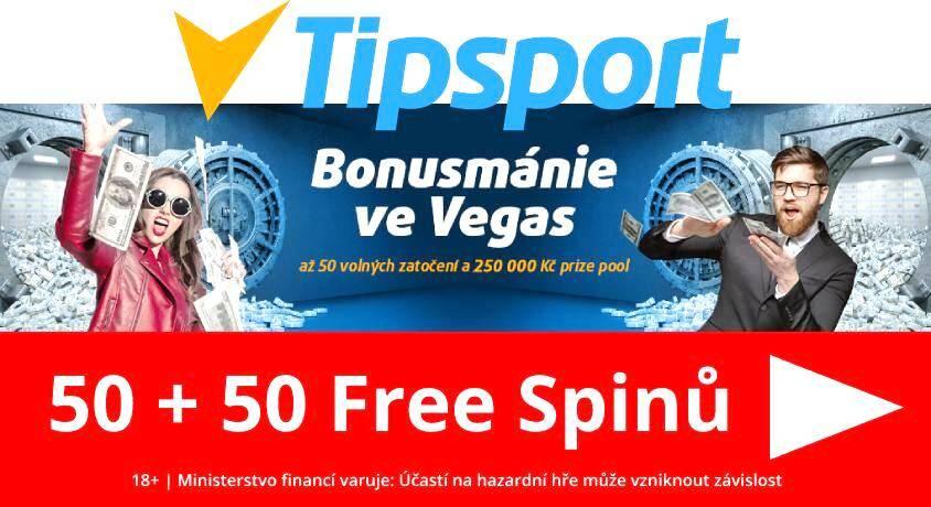 Bonusmánie Tipsport casino