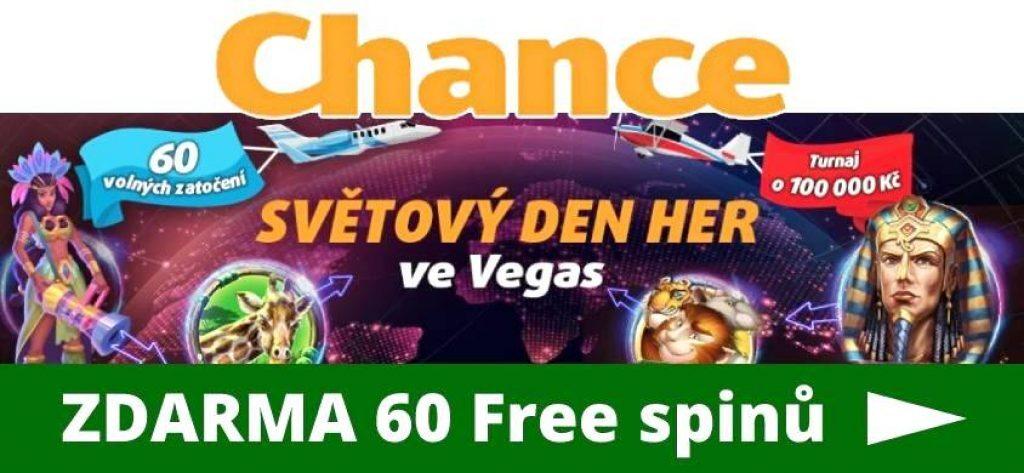 Chance free spin zdarma