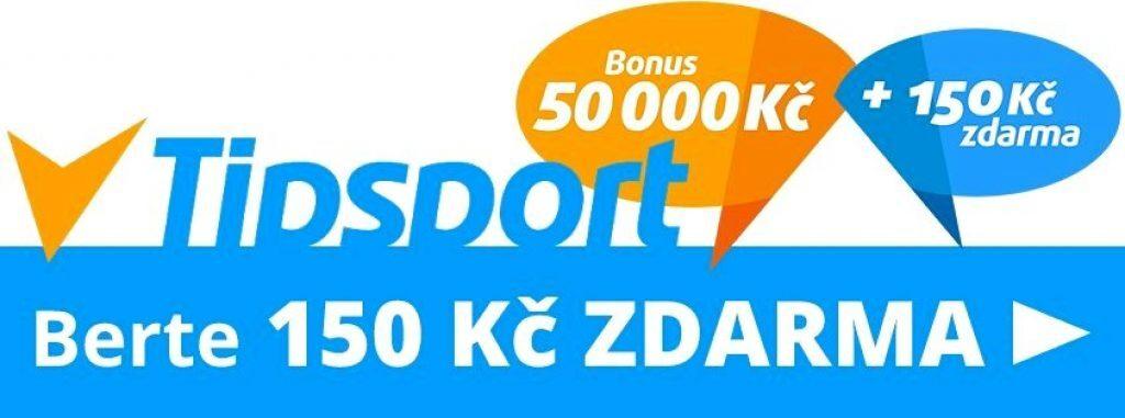 Tipsport bonus na kurzy 150 Kč zdarma