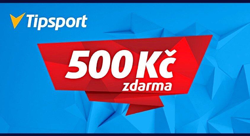 Tipsport 500 Kč zdarma vstupní bonus