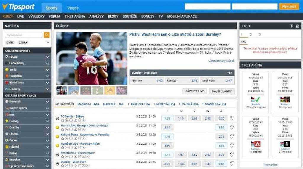 Tipsport kurzy fotbal dnes